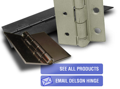 Slip Hinges, Continuous Hinges, Butt Hinges, and Flag Hinges